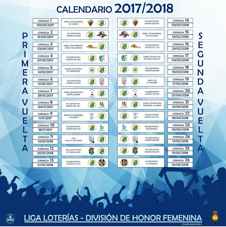 Liga Calendario.Calendario 2017 18 Del Aula Valladolid Dhf En Liga Loterias Bm Aula